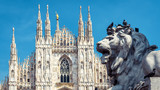 Lion on the Piazza del Duomo in Milan, Italy