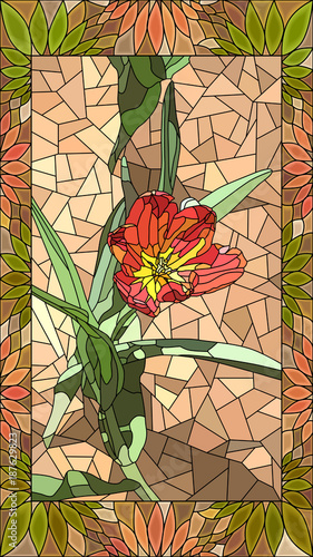 wektorowa-ilustracja-czerwony-tulipan