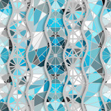 Seamless arabic geometric pattern in patchwork style. Vector traditional muslim background. - 187630447