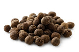 A pile of whole allspice isolated on white. - 187633829