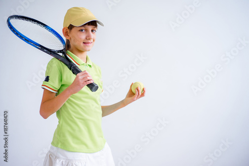 Aluminium Tennis Girl playing tennis