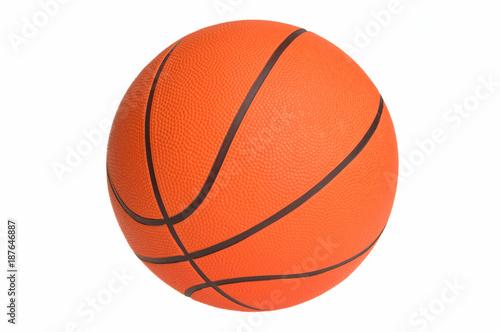 Fotobehang Basketbal Orange basketball : Simple Isolated Objects on White Background
