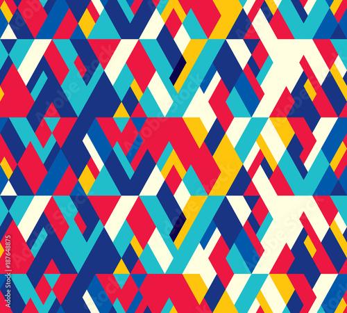 Materiał do szycia Abstract seamless pattern of geometric shapes. Diagonal movement.