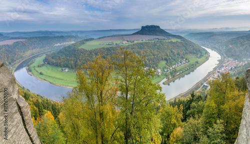 Panorama of the Saxon Alps - 187655800