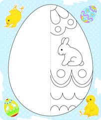 Easter egg drawing blue