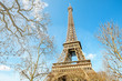 Detail of the Eiffel Tower of Paris