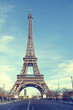 Eiffel tower of Paris in sunny day.