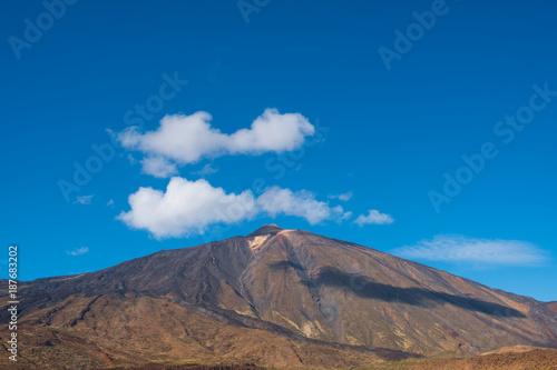 Deurstickers Canarische Eilanden mountain summit, Pico del Teide, Tenerife