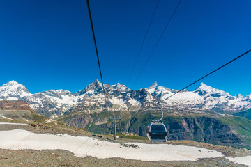 Cable car to top of the Matterhorn