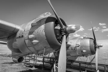 Closeup of Vintage Plane Propellers