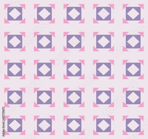 Square and triangle shape repeating seamless pattern design