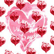 Watercolor Valentine's day background. Red hearts.