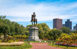 George Washington Statue in Boston Public Garden. Boston, Massachusetts, USA