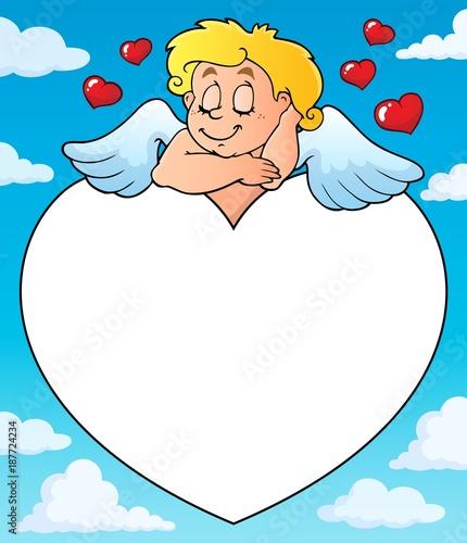 Deurstickers Voor kinderen Cupid thematics image 6