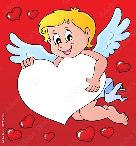 Deurstickers Voor kinderen Cupid thematics image 7