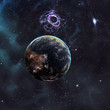 Exoplanet aganst space background