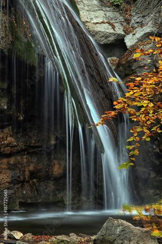 Fotobehang Herfst trip to the waterfall Jur-Jur Crimea