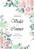 Wedding invitation with roses 1 - 187726605