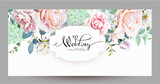 Wedding invitation with roses 3