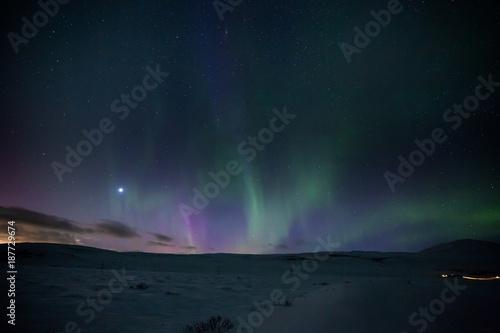 Fotobehang Noorderlicht Polarlicht - Auroar borealis