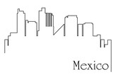 Mexico city one line drawing background - 187733624
