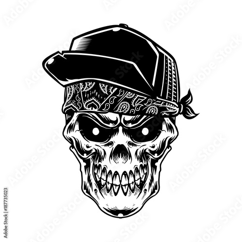 Skull artwork t-shirt design art print