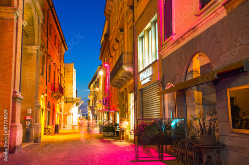 Street in the old town at night - 187738629