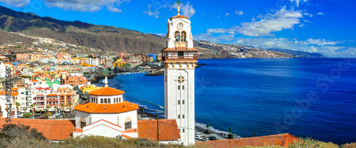 Fotobehang Freesurf Tenerife holidays and landmarks - Candelaria town with famous basilica