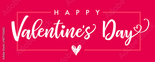 lettering happy valentines day banner pink valentines day greeting