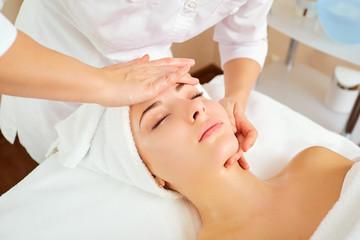 Beautiful woman at a facial massage at a spa salon. © Studio Romantic