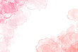 Pink, red and flesh coloured watercolour borders and backgrounds