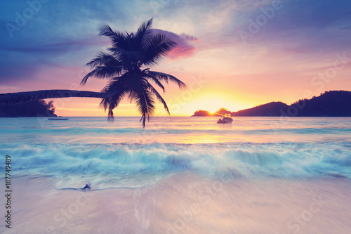 Seychellen am Abend