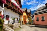 Hallstatt ancient european town Austria picturesque landscape