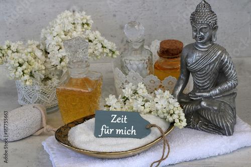 Tuinposter Boeddha Zeit für mich