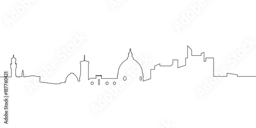 Isolated florence cityscape - 187760421