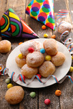 donut with carnival decoration - 187767862
