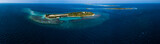 Aerial view of the tropical islands of Kaafu Atoll, Maldives - 187770431