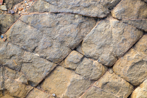 Foto op Canvas Stenen Rock patterns