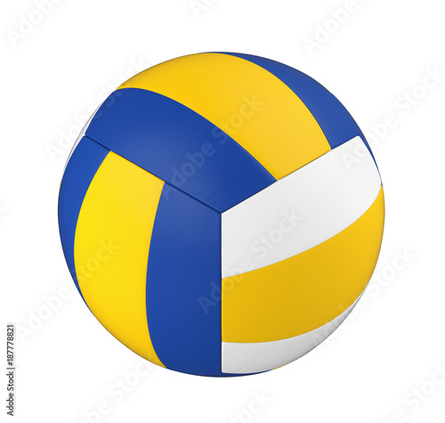 Staande foto Bol Volley Ball Isolated