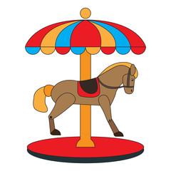 Carousel horse icon