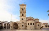 Saint Lazarus, an orthodox church under blue sky with few clouds, at Larnaca, Cyprus.