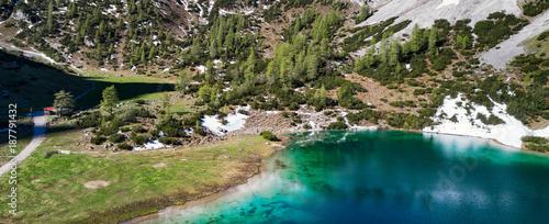 Foto op Canvas Bergen Majestic Lakes - Seebensee