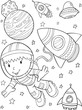 Astronaut Outer Space Vector Illustration Art - 187794685