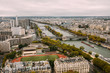 View of River Seine in Paris from Up High
