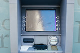 Vandalized and Spray Painted ATM Machine - 187796675