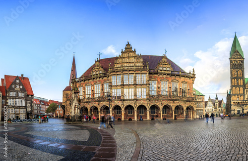 In de dag Milan Bremen main market square in the centre of the Hanseatic City, Germany