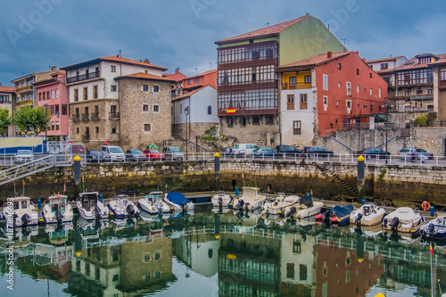 Llanes, a beautiful and lively fishing village on the Cantabrian Sea, Principality of Asturias, Northwest Spain.