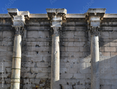 Poster Athene Old Greek symmetrical Columns