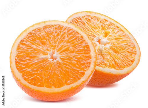 Foto Murales oranges isolated on a white background