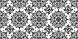 Seamless pattern. Black and white seamless background. Ethnic abstract background, abstract pattern. Geometric pattern. Background for printed products, brochures, booklets, fabric. Vector EPS 10 - 187812807